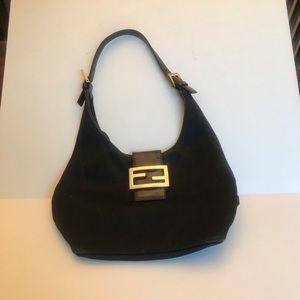 Fendi Bags - Fendi 💯 black with silver  FF logo